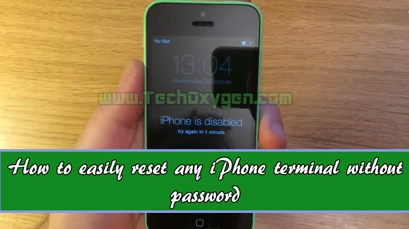 how to wipe an iphone without password iphone how to reset disabled iphone 4s or 5 7834