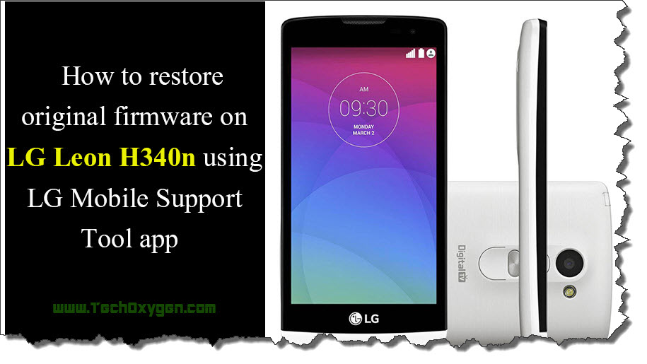 Recover LG Leon 4G LTE H340N with LG Mobile Support Tool