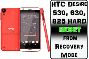 HTC Desire 530, 630, 825 HARD RESET from Recovery Mode