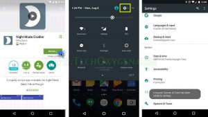 Active Night Mode Hidden Feature in Android Noguat Version 7.0