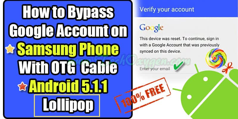 How To Bypass Google Account Samsung Phone - OTG Cable Method