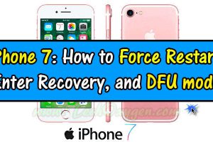 iPhone 7: how to Force Restart, Enter Recovery Mode, and DFU Mode, iPhone 7 Force Restart, Recovery Mode, DFU Mode