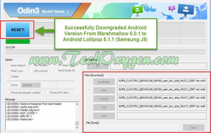 Downgrade Samsung Galaxy J500H Android Marshmallow to Lollipop 5.1