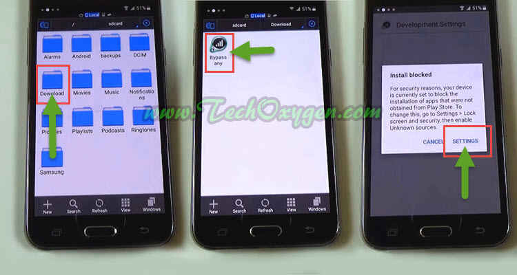 Samsung Galaxy J5 J500F - How to bypass Google account (SideSync method)