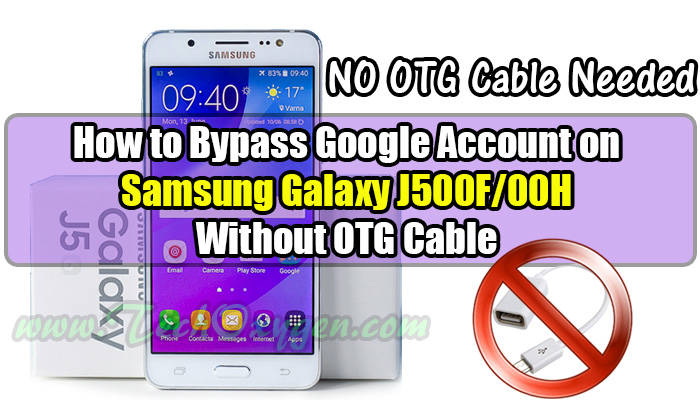 Samsung Galaxy J500 - How to bypass Google Account SideSync Method