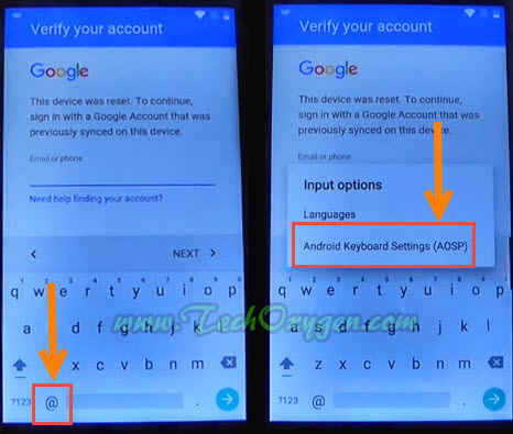 how to unlock android with google account