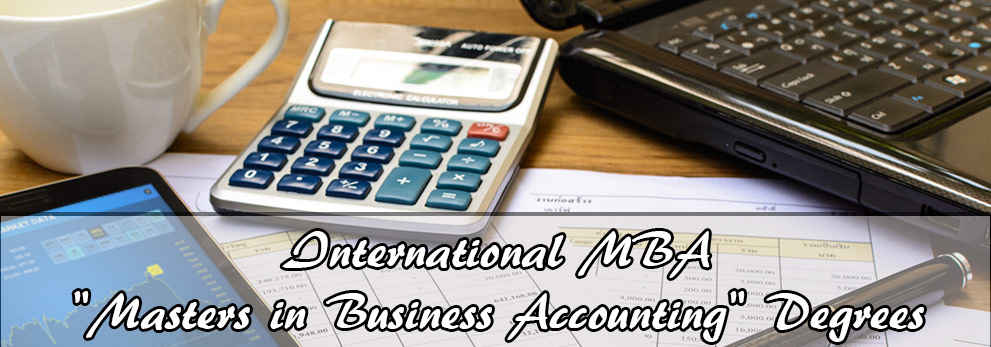 Online Accounting Degree for (MBA) Masters In Business