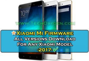 Xiaomi Mi Firmware Latest Official Firmwares Download for any Xiaomi phone. Pictures contains Xiaomi mobile logo, Miui logo colorful background and text on it.